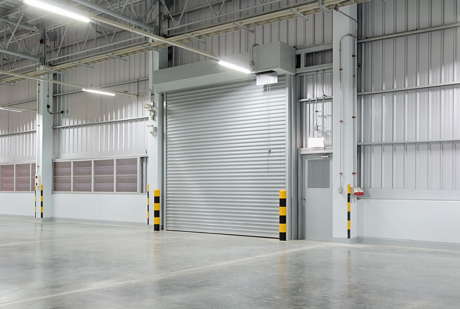 Roller Shutter in Warehouse